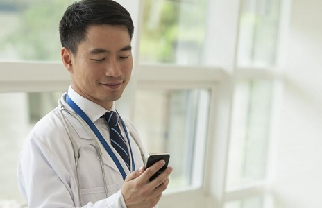 doctor using telehealth